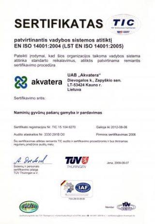 EN ISO 14001 2004 sertifikatas